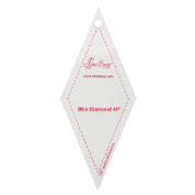 "Sew Easy Mini Diamond 45 Degree Acrylic Ruler 3.5"" x 2.5"""